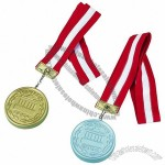 Medal Stress Ball with Lanyard - Golden / Silver