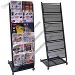 Medium 6 Pocket Mobile Literature Display Rack