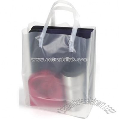 Medium Clear Frosted Shopping Bag