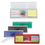 Memo Holder with Clip Dispenser,Ruler
