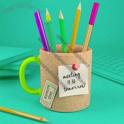 Memo Mug Cork Pen Holder
