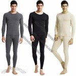 Men's 100% Cotton 2-Piece Thermal Underwear Set