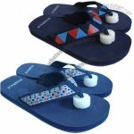 Men's Beach Sandals with Lami PU Strap, High Density EVA Insole, TPR Outsole