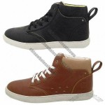 Men's Casual Shoes, Made of Imitation Leather, Canvas and Rubber Outsole