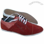 Men's Casual Shoes with Suede Upper, Rubber Sole