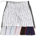 Mens Clothing Baseball Stripe Training Casual Knee Short Pants