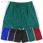 Mens Clothing Solid training jogging Casual 2 line Short Pants