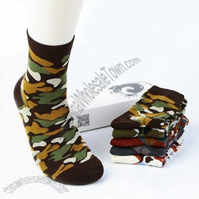 Men's Colorful 100% Cotton Sport Military Socks