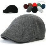 Mens Cotton Flat Cap Cabbie Driving Hat Gatsby Ivy Irish Newsboy