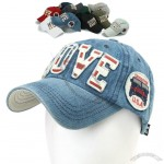 Mens Denim Vintage Baseball Caps Visor Hats