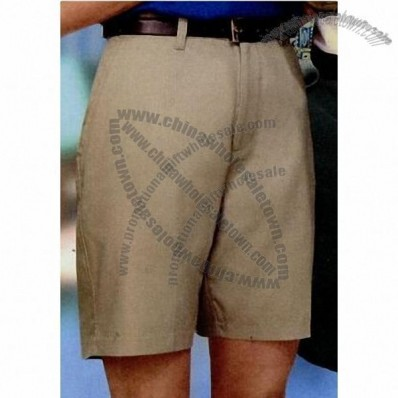 Men's Flat Front Twill Shorts