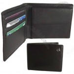 Men's Leather Billfold Coin Wallet