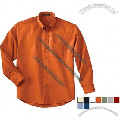Men's Long Sleeve Custom Dress Shirt with Teflon
