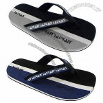 Men's Sandal, Canvas and Denim Upper, Rainbow EVA, High-quality, Design from Korea and Japan