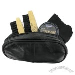 Mens Shoe Cleaning Kit In Leather Case