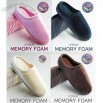 Men's Velvet Memory Foam Slippers