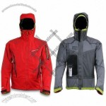 Men's Windbreaker with 3-layer Lamination Jacket and Underarms Ventilation System