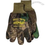 Men's camouflage jersey hunting gloves with knitwrist.