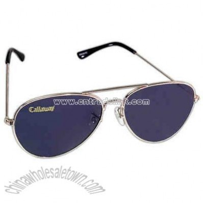 Men's metal aviator sunglasses