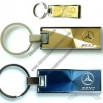 Mercedes Benz Rectangle Key Chain Gold