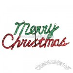 Merry Christmas Holographic Sign