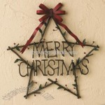 """Merry Christmas"" Star Sign"