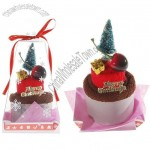 Merry Christmas Theme Sweet Roly-Poly Cake Towel with Merry Christmas Tree & Cherry