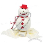 Merry Christmas Theme Sweet Roly-Poly Snowman Towel - White