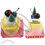 Merry Christmas theme facial cake towel 2pcs pack