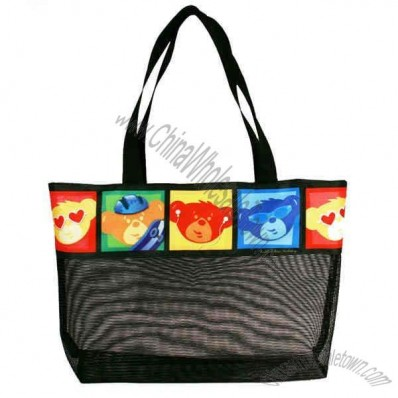 Mesh And Nylon Tote Bag