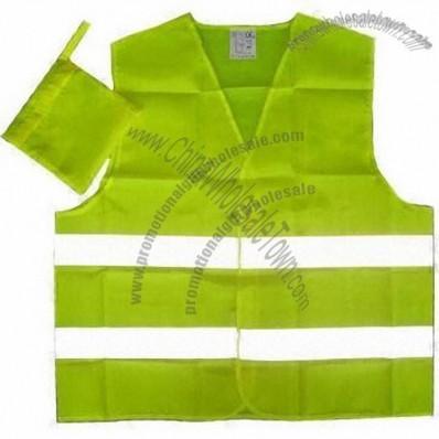 Mesh Cloth Safety Vest with Four-piece PVC Bands