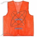 Mesh Fabric Reflective Safety Vest with Simple Design and High Visibility