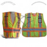 Mesh Safety Vest with 5 Point Breakaway