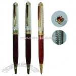 Metal Ball Pens with Twist Action and Crystal Design