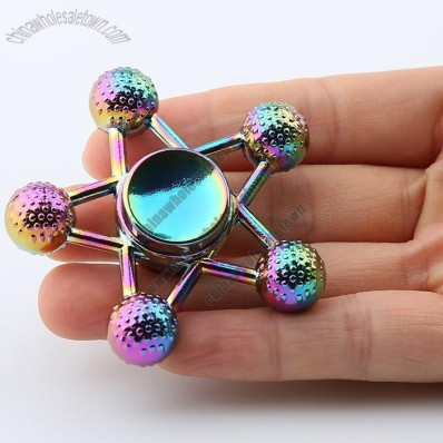 Metal Ball-bar Star Colorful Hand Fidget Spinner Toy