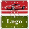 Metal Car Plate Wall Clock