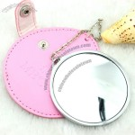 Metal Cosmetic Mirror with Leather Cover