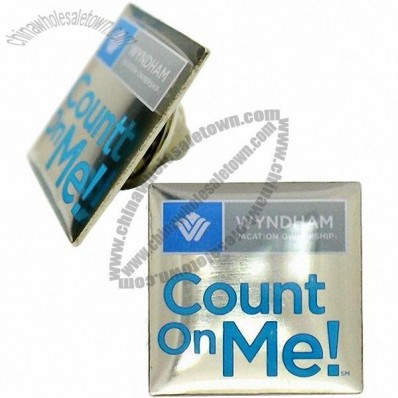 Metal Count on Me Pin in Nickel Plating