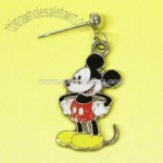 Metal Earrings in Disney Mickey Mouse Design