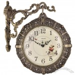 Metal Fashion Double Side Mute Wall Clock