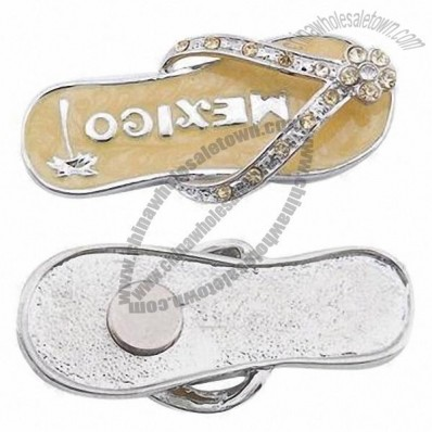 Metal Flip Flops Fridge Magnet