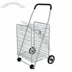 Metal Folding Shopping Cart with Foam Grip Handle