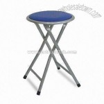 Metal Folding Stool with Powder-coated Finish