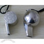 Metal Football Shaped Whistle