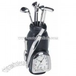 Metal Golf Bag Clock