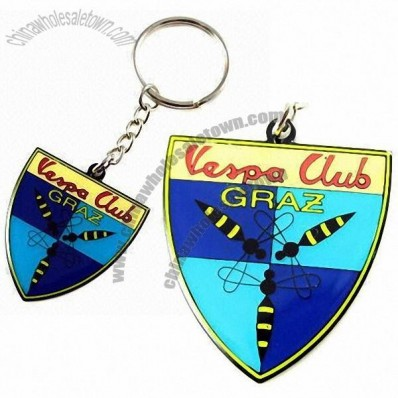 Metal Keychain with Soft Enamel