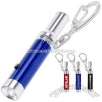 Metal LED light whistle and clip keyring
