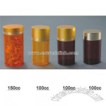 Metal Lid Transparent Plastic Bottle