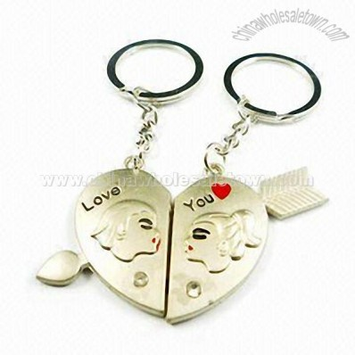 Metal Love Key Rings in Various Designs