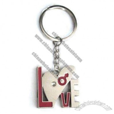 Metal Love Keychain in Various Designs